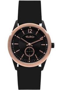 Relógio Euro Multi Basic Eyes Feminino - Feminino-Preto