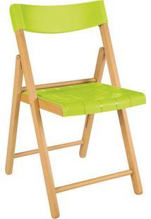 Cadeira Potenza- Marrom Claro & Verde- 77,5X42X53,5Ctramontina