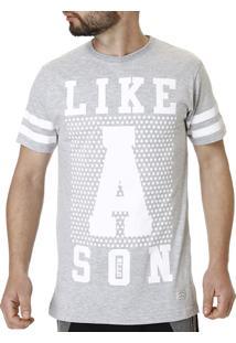 Camiseta Manga Curta Nell Onda Cinza