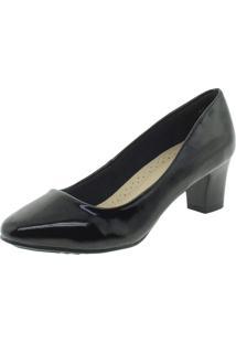 Sapato Feminino Salto Médio Facinelli - 62402 Verniz/Preto 34