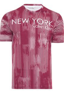 Camiseta Masculina Ck Mi Swimwear - Vermelho