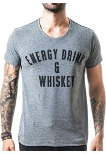 Camiseta T-Shirt Liferock Energy Drink - Masculino-Cinza
