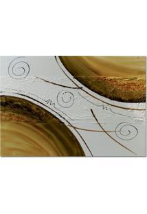 Quadro Artesanal Com Textura Abstrato I Marrom 70X100 Uniart