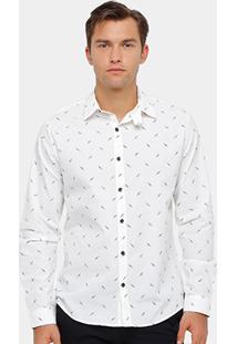 Camisa Social Colcci Mini Print Masculina - Masculino
