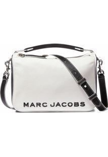 Marc Jacobs Bolsa The Softbox Colorblocked 23 - Branco
