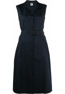 Aspesi Vestido Sem Mangas Com Cinto - Azul