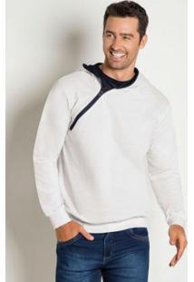Jaqueta Branca Com Capuz