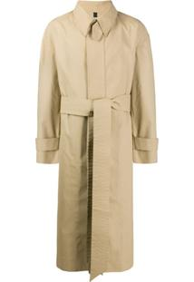 Ami Trench Coat Clássico - Neutro
