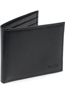Carteira Italiana Mr. Cat - Masculino-Preto