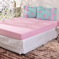 d22dd4dcd4 Jogo De Cama Malha 2 Peças Solteiro Flamingo - Bene Casa Estilo e Conforto