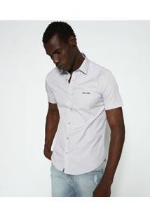 """Camisa Slim Fit """"Calvin Kleinâ®"""" - Branca & Roxacalvin Klein"""