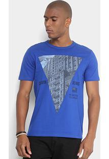 Camiseta Calvin Klein Estampa Prédios Triângulo Masculina - Masculino