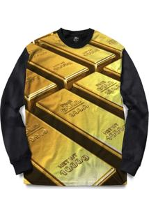 Blusa Bsc Fine Gold Full Print - Masculino