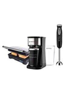 Kit Cadence Black - Cafeteira - Grill - Mixer