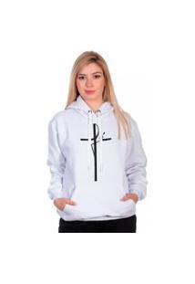 Blusa De Frio Moletom Fé Moda Inverno Selten Branco