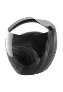 Porta Algodão/Cotonetes Spoom Classic 10,8 X 10,6 X 8,5 Cm Mármore Preto Coza