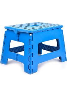 Banqueta Le Step Dobrável Azul 22X22X29Cm
