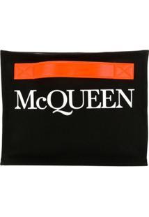 Alexander Mcqueen Logo Print Clutch Bag - Preto