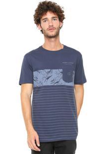 Camiseta Hang Loose Com Bolso Azul