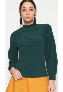 Blusa Canelada- Verde Escuro- Miss E Missesmiss & Misses