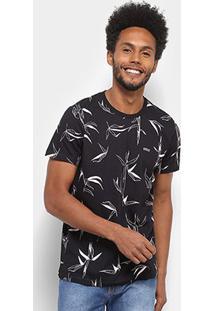 Camiseta Colcci Estampada Masculina - Masculino-Preto+Rosa