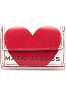 Marc Jacobs Carteira Heart Com Logo - Branco