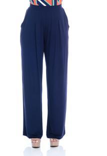 Calça B'Bonnie Pantalona Elis Azul Marinho - Kanui