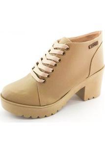 Bota Quality Shoes Tratorada Feminina - Feminino-Nude