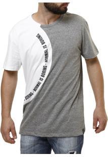 Camiseta Fido Dido Manga Curta Masculina - Masculino-Branco