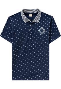 Camiseta Pai-Filhos Milon Azul Marinho