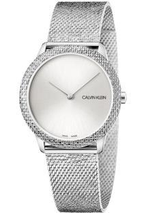 Relógio Calvin Klein Feminino Em Aço Prateado