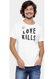Camiseta Triton Love Kills - Masculino-Branco