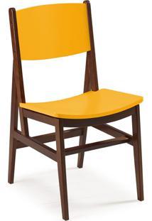 Cadeira Dumon 87 Cm 951 Cacau/Amarelo - Maxima