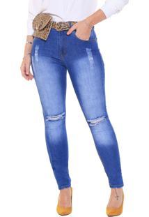 Calça Studio21 Skinny Jeans Com Pochete