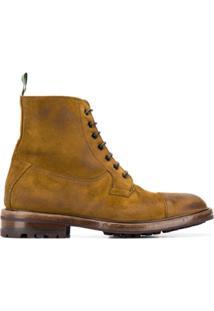 Green George Ankle Boot Com Cadarço - Marrom