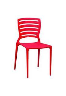 Cadeira Tramontina Sofia Encosto Vazado Horizontal Vermelha Vermelho