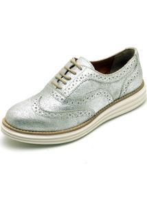Sapato Oxford Casual Yes Basic 300 Prata