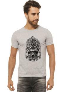 Camiseta Joss - Caveira Coroa - Masculina - Masculino-Mescla