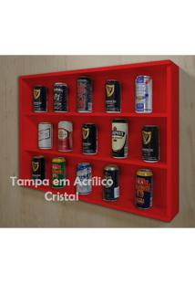 Mini Estante Vitrine Para Coleções Miniaturas / Cervejas Laqueada - Vermelho
