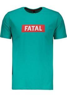 Camiseta Fatal Estampada - Masculino-Verde