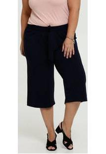 Calça Feminina Crepe Pantacourt Plus Size