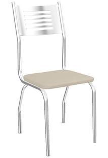 Cadeira Kappesberg Munique 2C047Cr (2 Uni) Cromada/Nude