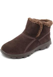 Bota Skechers On-The Go Chugga Imprint Marrom