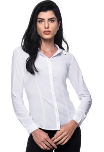 Camisa Intens Manga Longa Viscose Branco