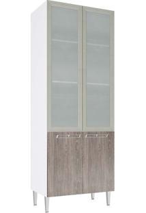 Cristaleira Profunda 2 Portas Vidro Cz709 Mia Coccina - Art In Móveis Rustico