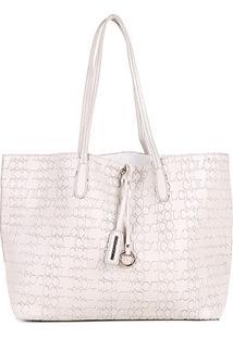 Bolsa Colcci Tote Shopper Logo Feminina - Feminino-Bege