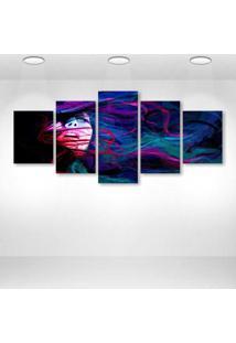 Quadro Decorativo - Colorful Woman - Composto De 5 Quadros