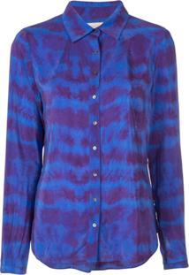 Nicole Miller Tie-Dye Blouse - Azul