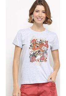 Camiseta Hapuna Baby Look Beautiful Wild Feminina - Feminino-Mescla