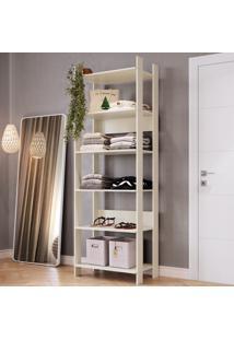 Closet 6 Prateleiras Cla1001 Off White - Completa Móveis